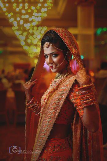 Photo of Smiling bride portrait