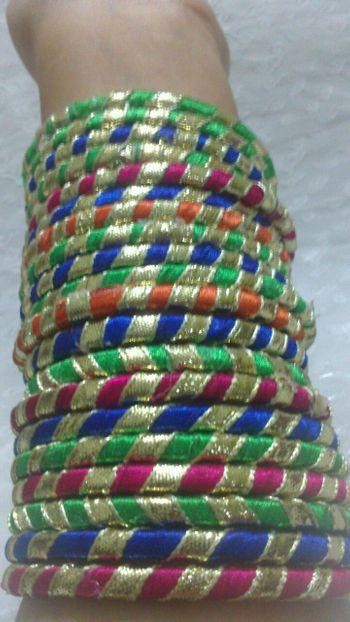 colorful bangles . gota bangles
