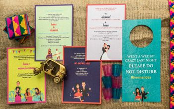Photo of Wedding invitation kit with do not disturb sign