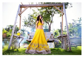 Photo of yellow lehenga