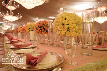 Photo of Elegant floral table setting