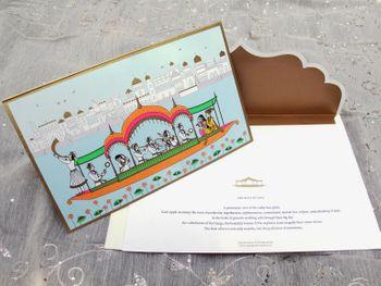 pastel blue wedding card
