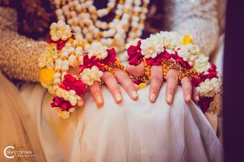 Mehendi jewellery floral haathphool