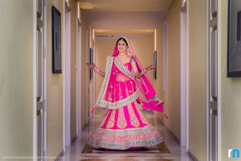 Hot Pink and Mint Twirling Lehenga