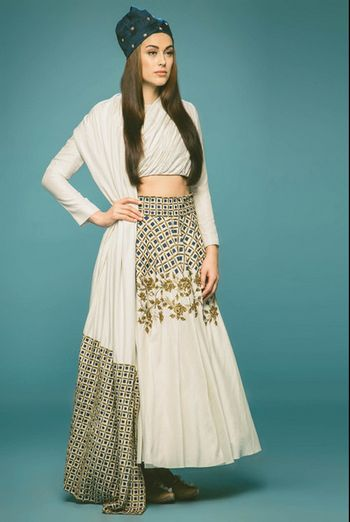 Photo of white lehenga