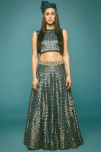 Photo of crop top lehenga