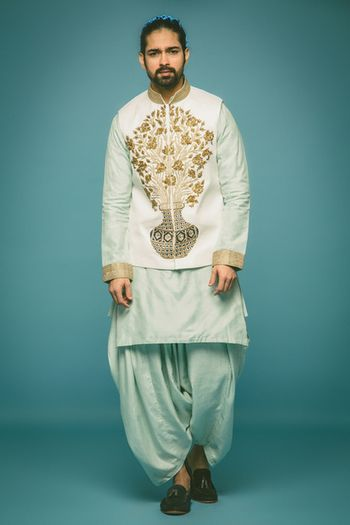 Photo of pale blue kurta