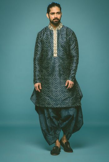 Photo of navy blue kurta