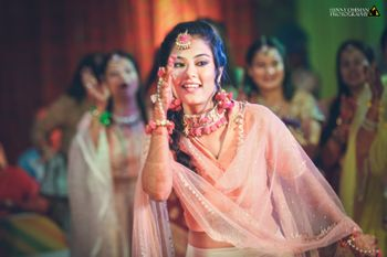 Bride to be dancing on mehendi day