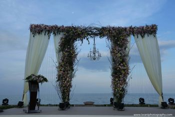 Photo of beachside wedding