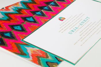 ikat print card