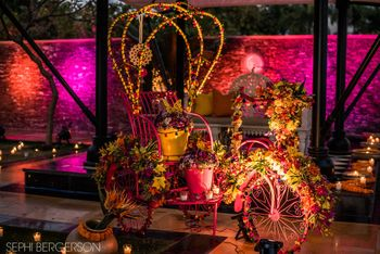 Photo of Bright and colorful Rikshaw with florals