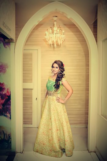 Photo of Bride to be on pre wedding functions