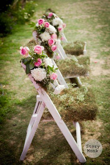 Chair decor ideas with floral arrangement