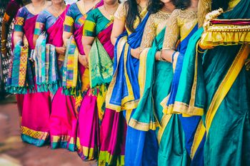 Photo of silk sarees