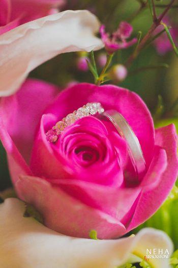 Pretty engagement ring shot