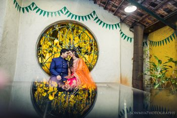 Photo of Romantic couple reflection shot