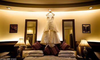 Christian Wedding gown on hanger shot