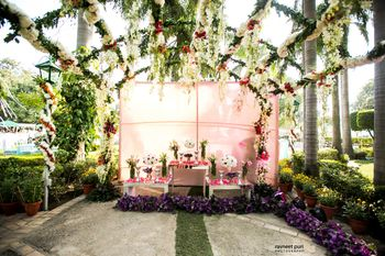 Photo of Mehendi entrance floral decor