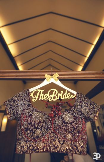 Bridal accessory with blouse on special hanger