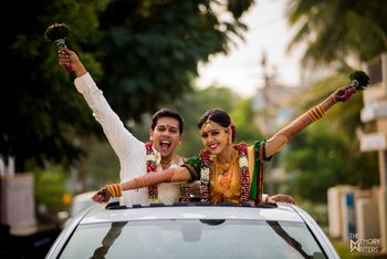 Lovely south indian couple  shot on wedding day