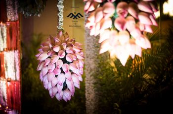 Pretty hanging lotus buds for entrance decoration