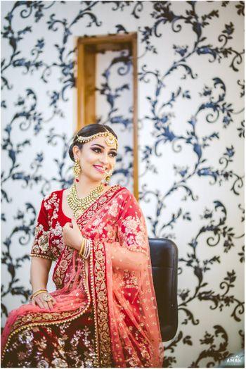 Photo of Smiling bride shot
