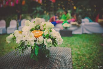 Photo of Small floral table centerpiece