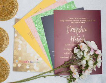 Photo of multicolored invitation