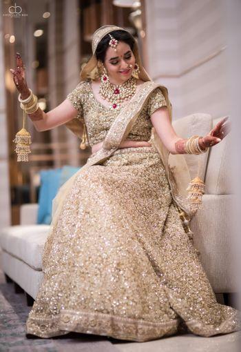 Bright and happy bridal shot