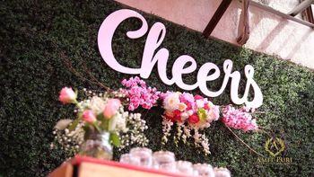 Cheers backdrop for bar decor idea