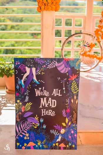 Photo of Fun decor idea for mehendi with cute quote
