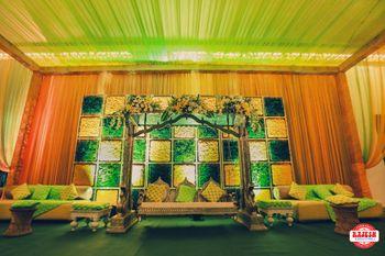 Floral stage backdrop for mehendi or sangeet