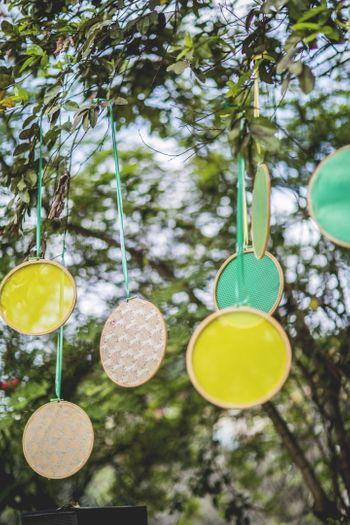 Embroidery hoops decor idea