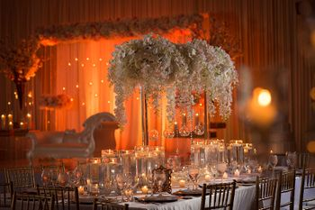 Pretty table decor for weddings