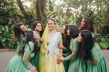 Cute bride and bridesmaids shot