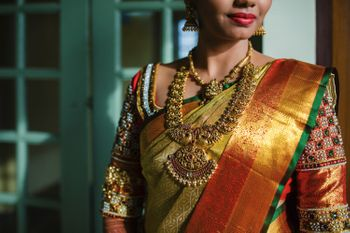 South Indian bridal temple jewellery necklace