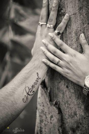 Photo of ring tattoos
