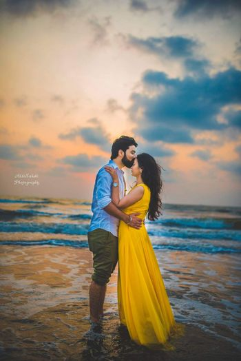 Romantic pre wedding shoot on the beach