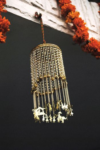 Bridal kalerre with hanging charms