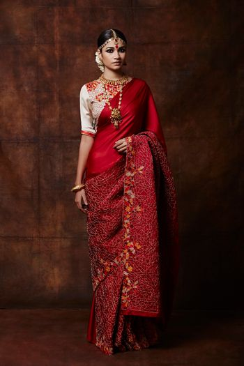 Photo of red saree