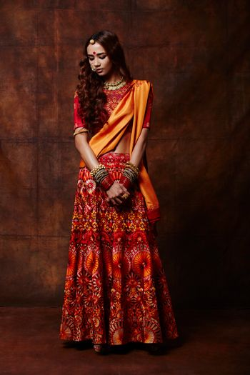 Photo of funky lehenga
