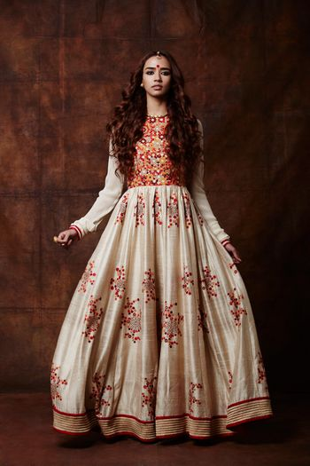 off white anarkali