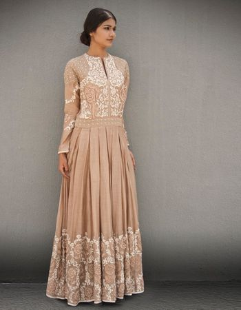 Photo of beige anarkali