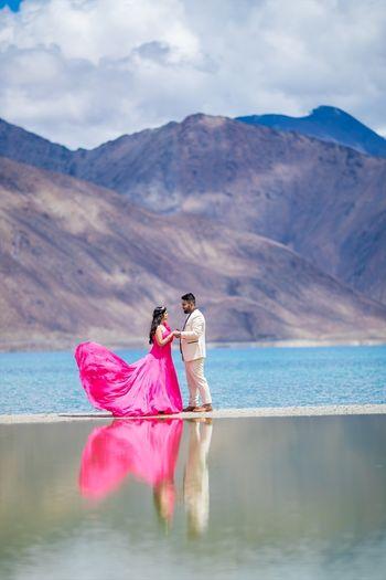Destination pre wedding shoot in Ladakh