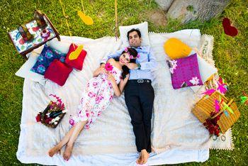 picnic pre wedding shoot