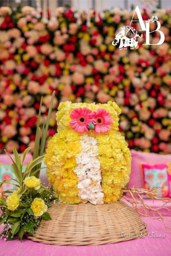 Photo of Bird theme owl centrepiece