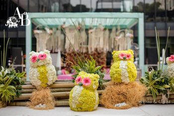 Photo of Owl props for wedding decor