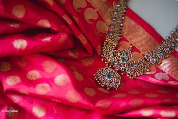Photo of red banarsi saree