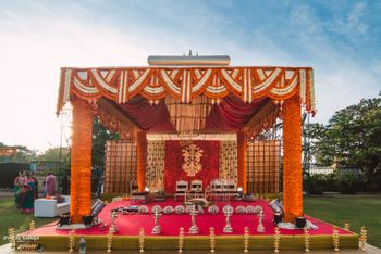 Photo of rustic INdian mandap